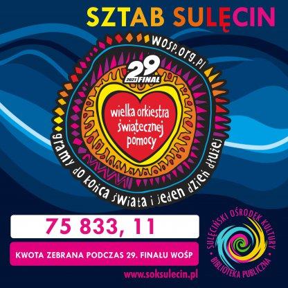 Znamy ostateczną kwotę zbiórki podczas 29. Finału WOŚP w Sulęcinie