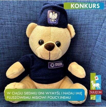 Policyjna maskotka czeka na imię - konkurs!
