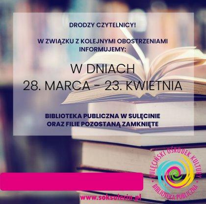 Informacja z Biblioteki Publicznej w Sulęcinie