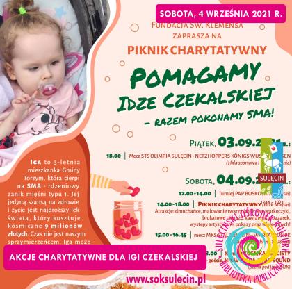 Piknik charytatywny - POMAGAMY IDZE CZEKALSKIEJ