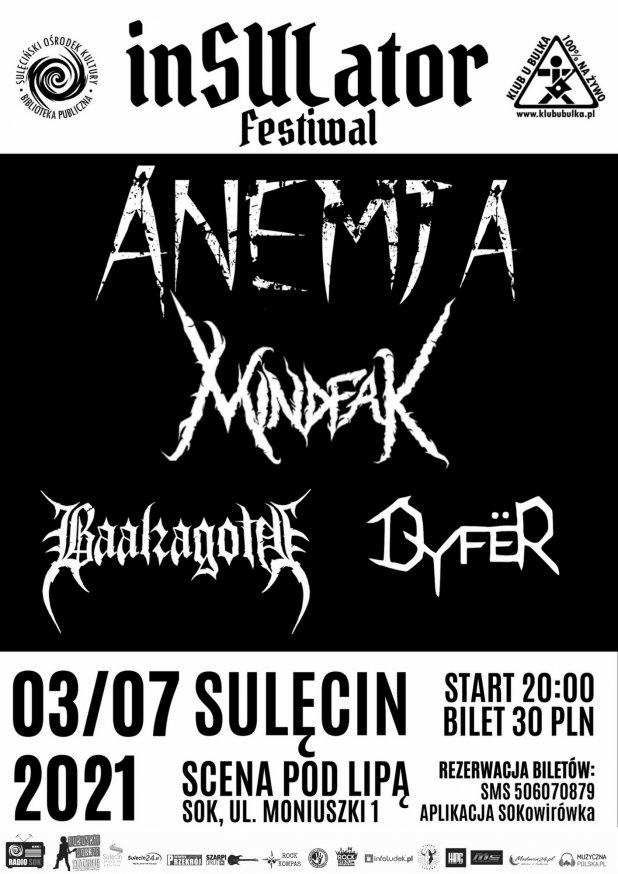 inSULator Festiwal: Anemja / Dyfer / Mindfak / Baalzagoth - już w sobotę!
